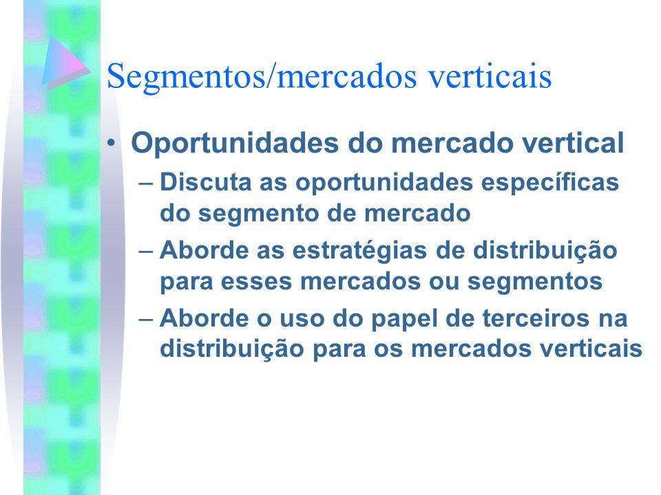 Segmentos/mercados verticais