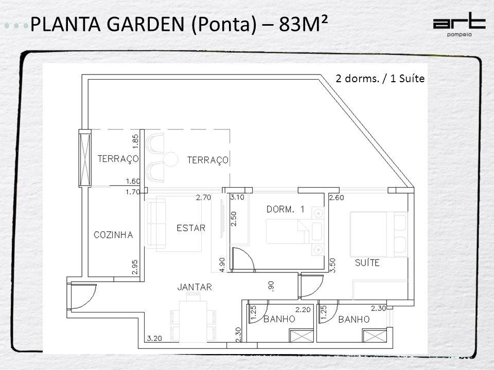 PLANTA GARDEN (Ponta) – 83M²