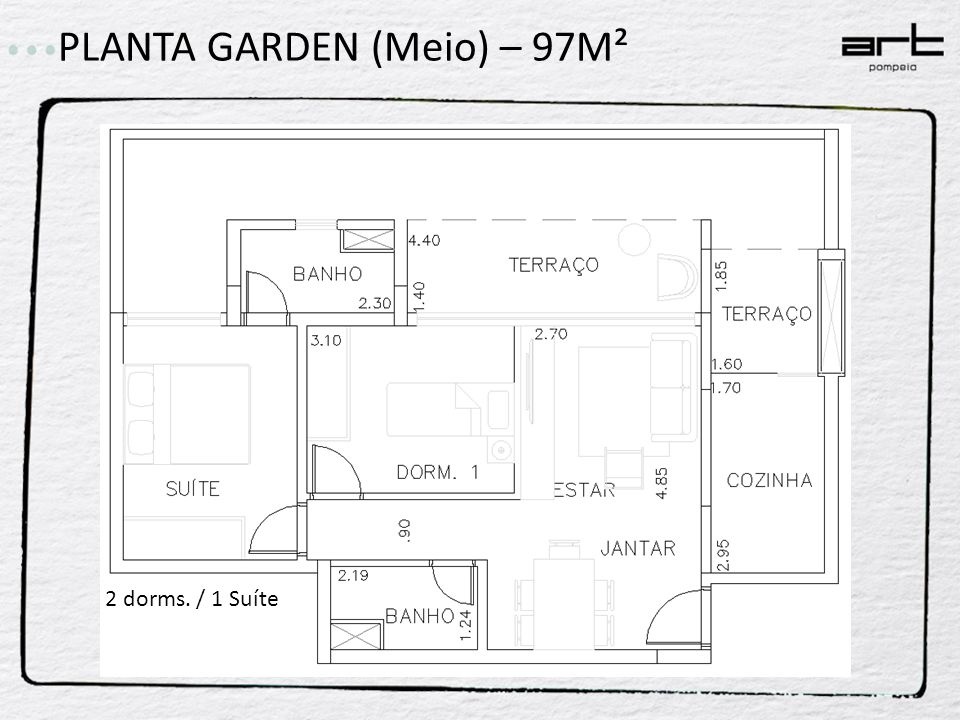 PLANTA GARDEN (Meio) – 97M²