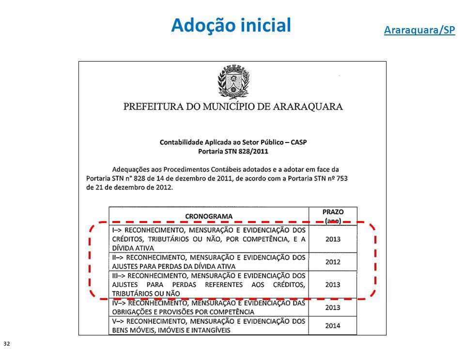 Adoção inicial Araraquara/SP - -