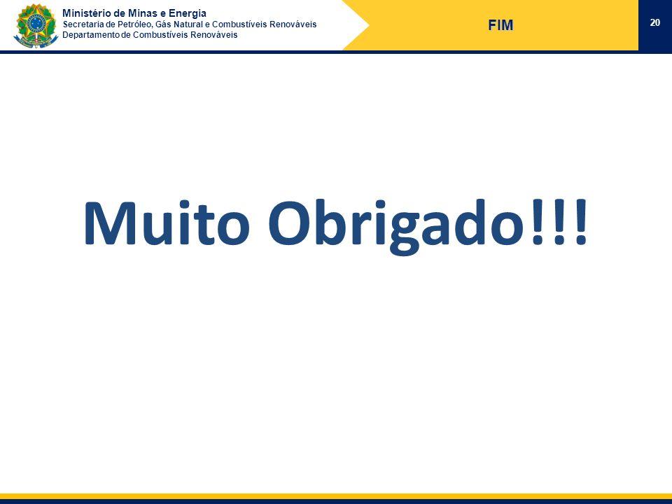 FIM Muito Obrigado!!!