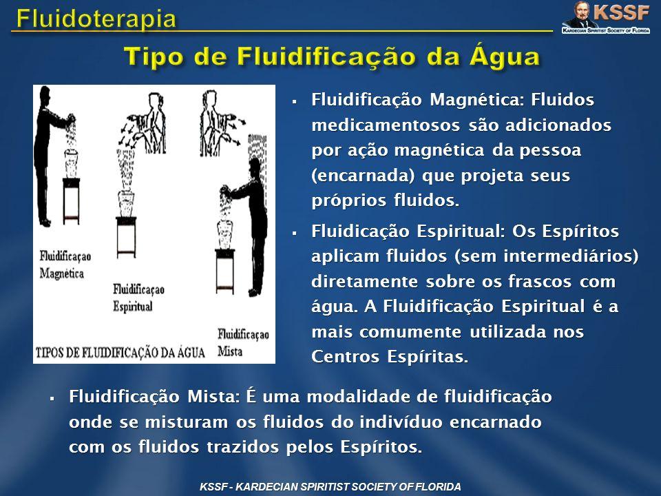 Tipo de Fluidificação da Água