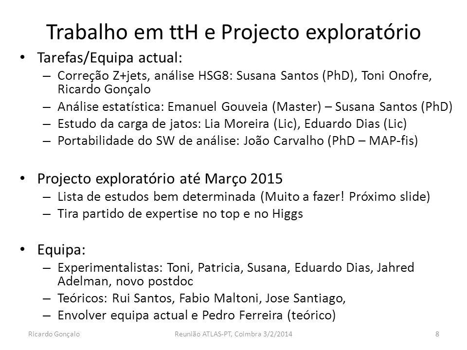 Trabalho em ttH e Projecto exploratório
