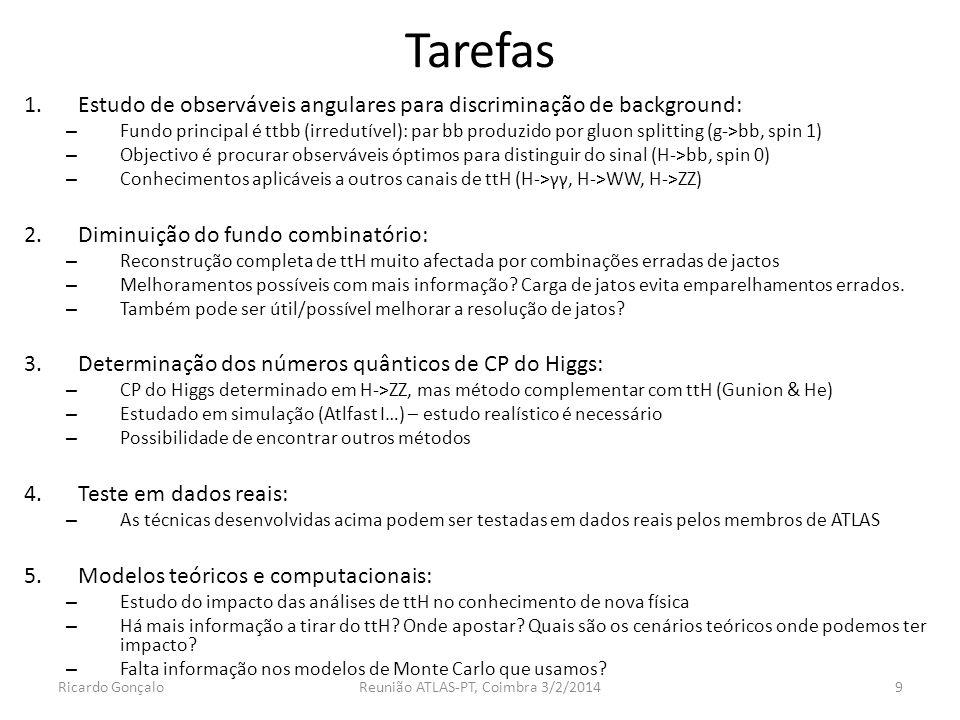 Reunião ATLAS-PT, Coimbra 3/2/2014