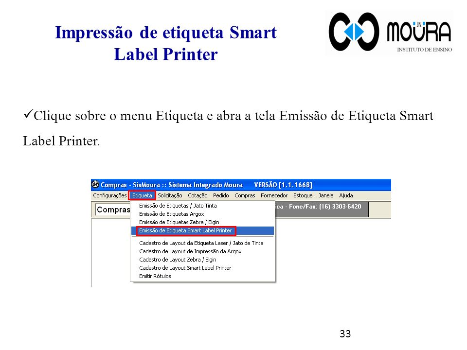 Impressão de etiqueta Smart Label Printer