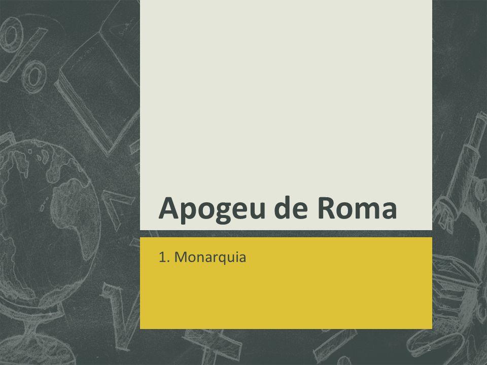 Apogeu de Roma 1. Monarquia