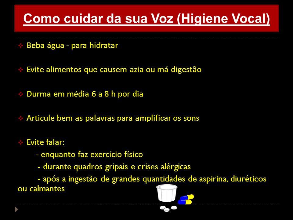 Como cuidar da sua Voz (Higiene Vocal)