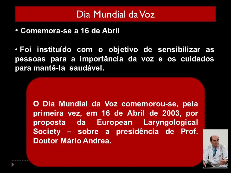 Dia Mundial da Voz Comemora-se a 16 de Abril