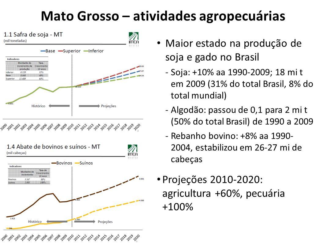 Mato Grosso – atividades agropecuárias