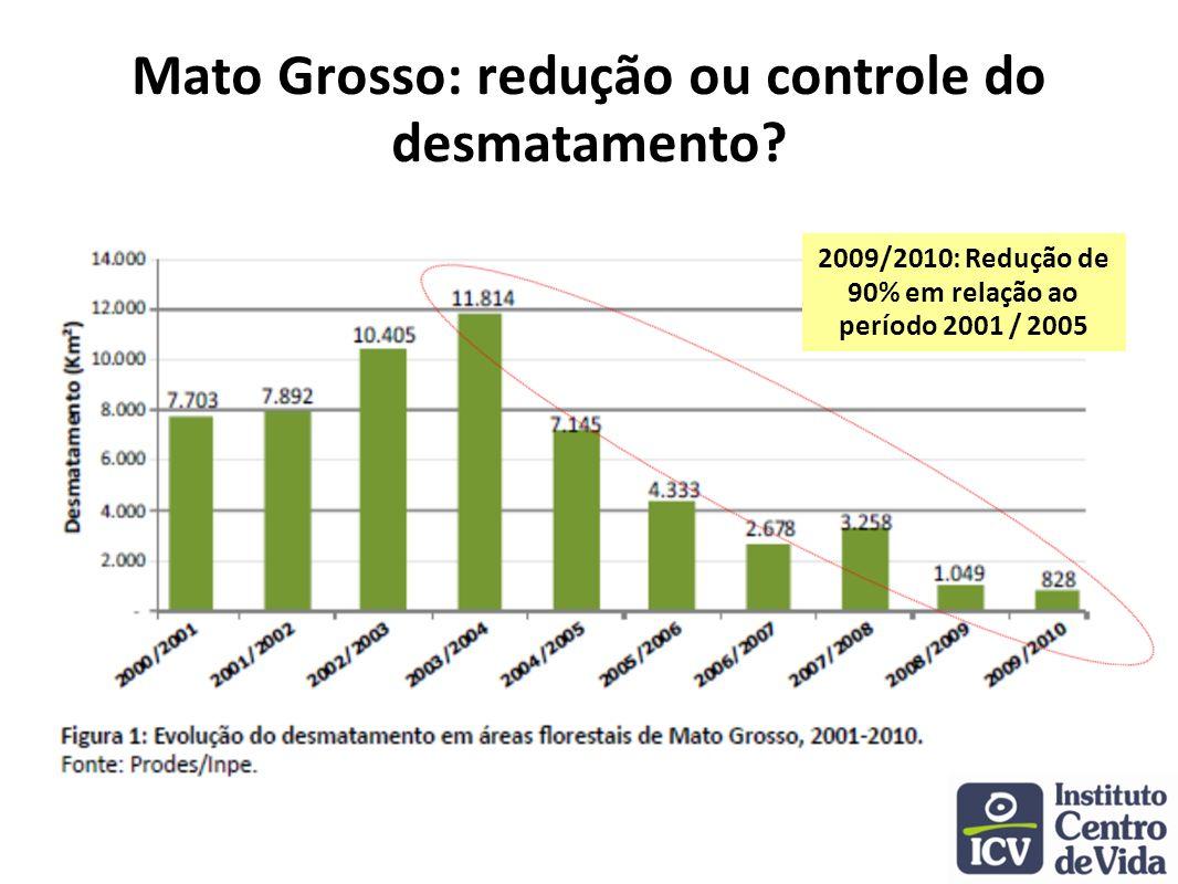 Mato Grosso: redução ou controle do desmatamento
