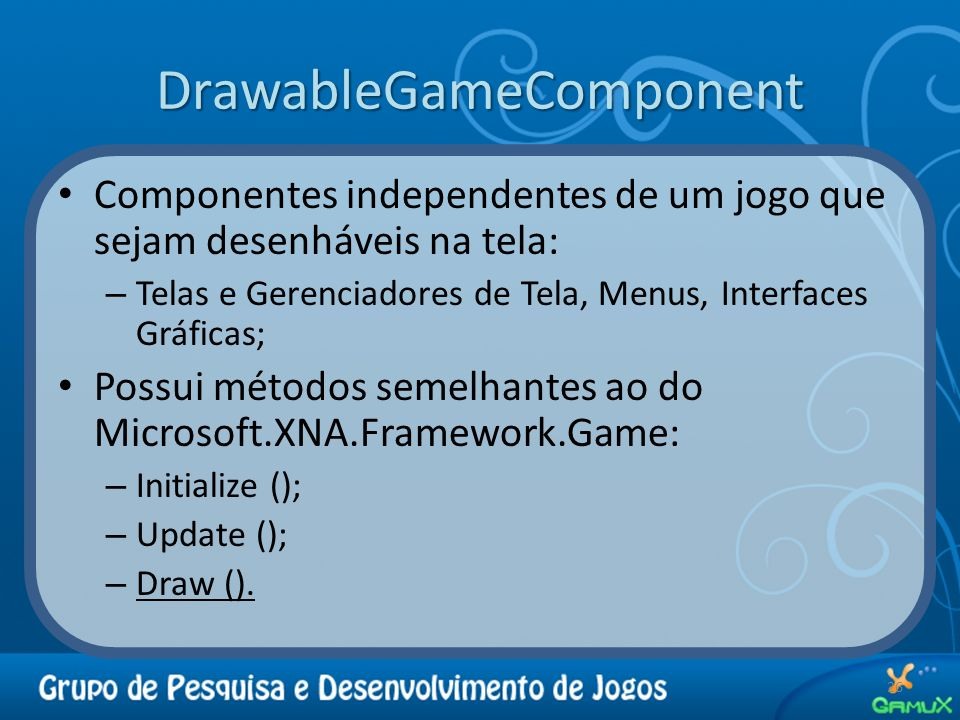 DrawableGameComponent