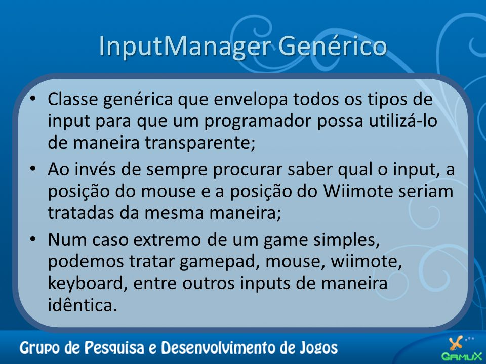 InputManager Genérico