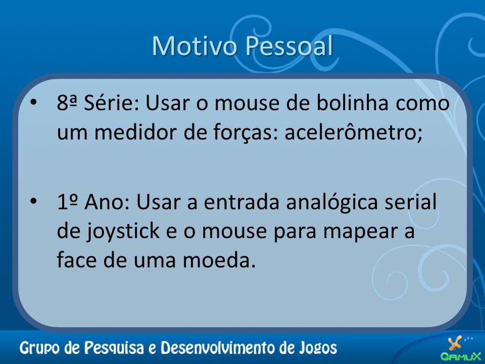 Motivo Pessoal 8ª Série: Usar o mouse de bolinha como um medidor de forças: acelerômetro;