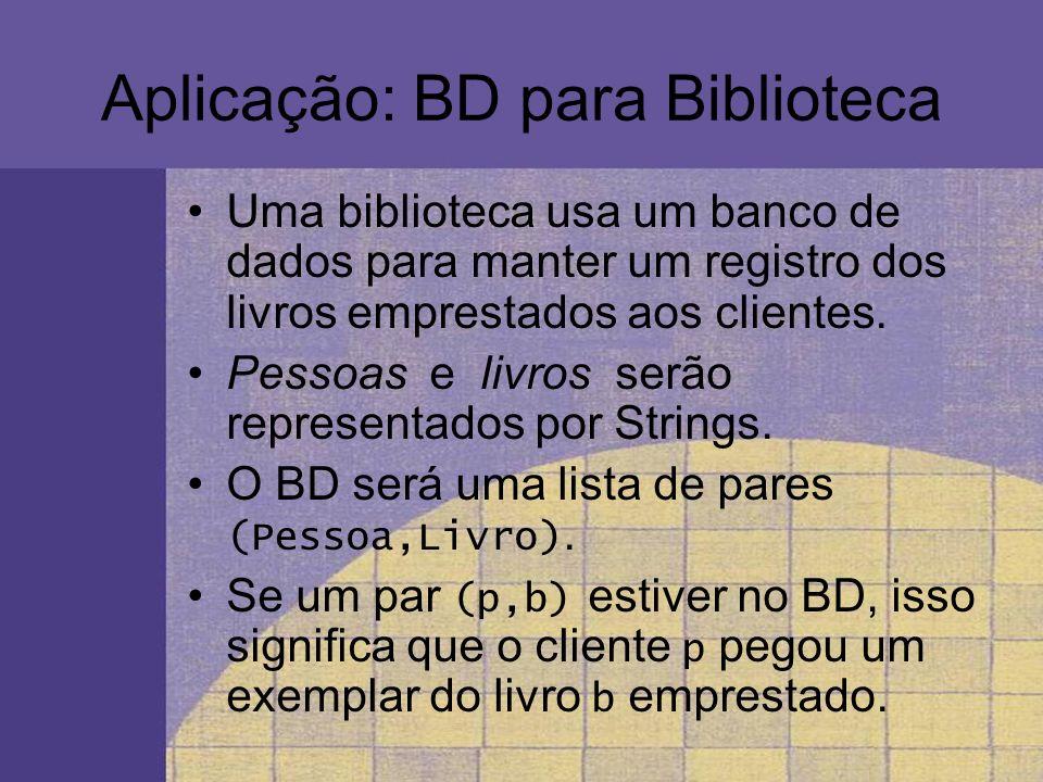 Aplicação: BD para Biblioteca