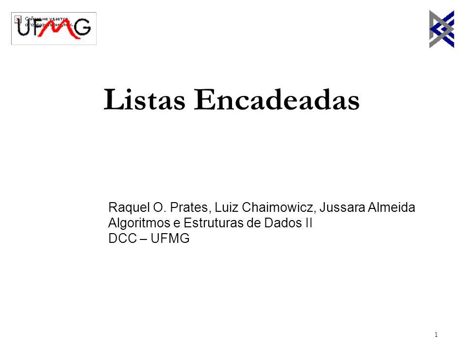 Listas Encadeadas Raquel O. Prates, Luiz Chaimowicz, Jussara Almeida