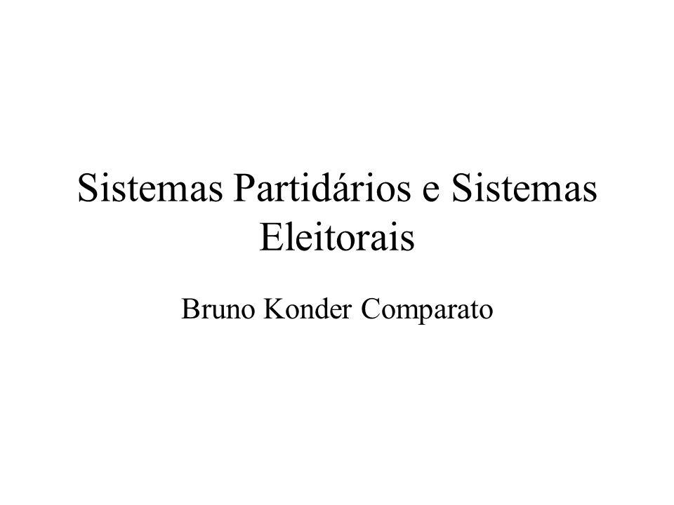 Sistemas Partidários e Sistemas Eleitorais