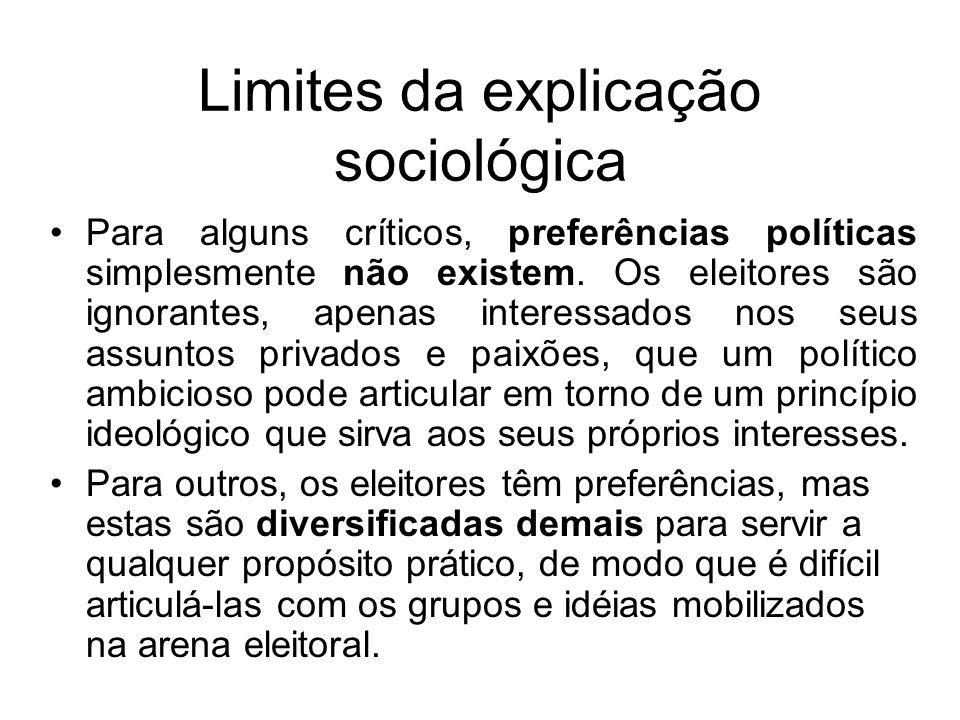 Limites da explicação sociológica