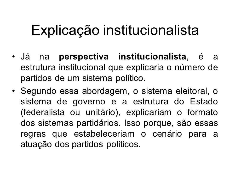 Explicação institucionalista