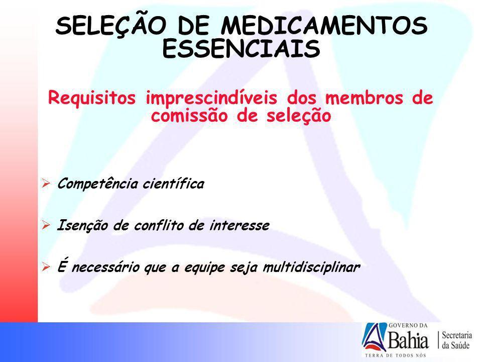 Requisitos imprescindíveis dos membros de comissão de seleção
