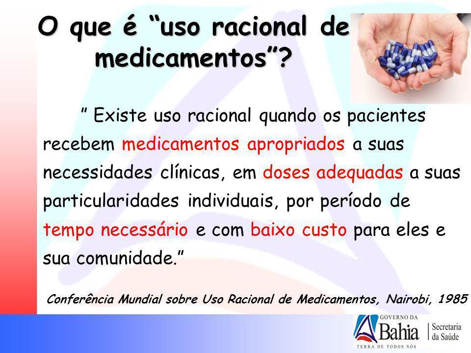 O que é uso racional de medicamentos