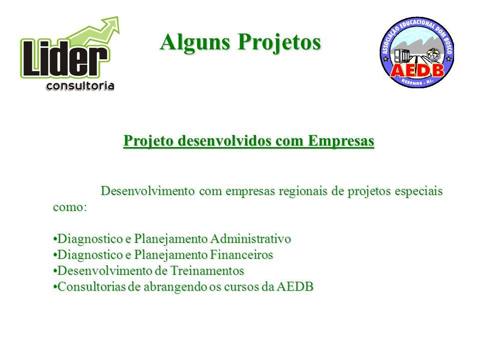 Projeto desenvolvidos com Empresas