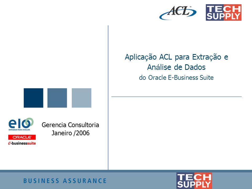 Aplicação ACL para Extração e Análise de Dados do Oracle E-Business Suite