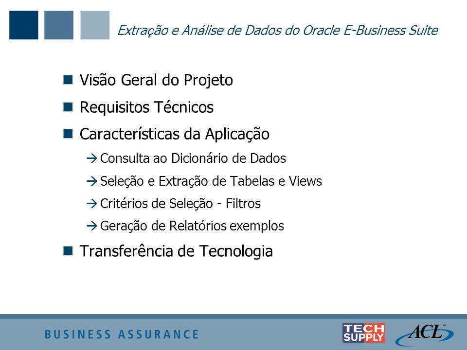 Extração e Análise de Dados do Oracle E-Business Suite
