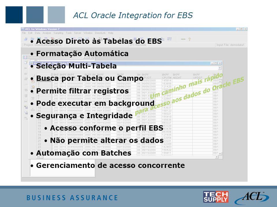 para acesso aos dados do Oracle EBS