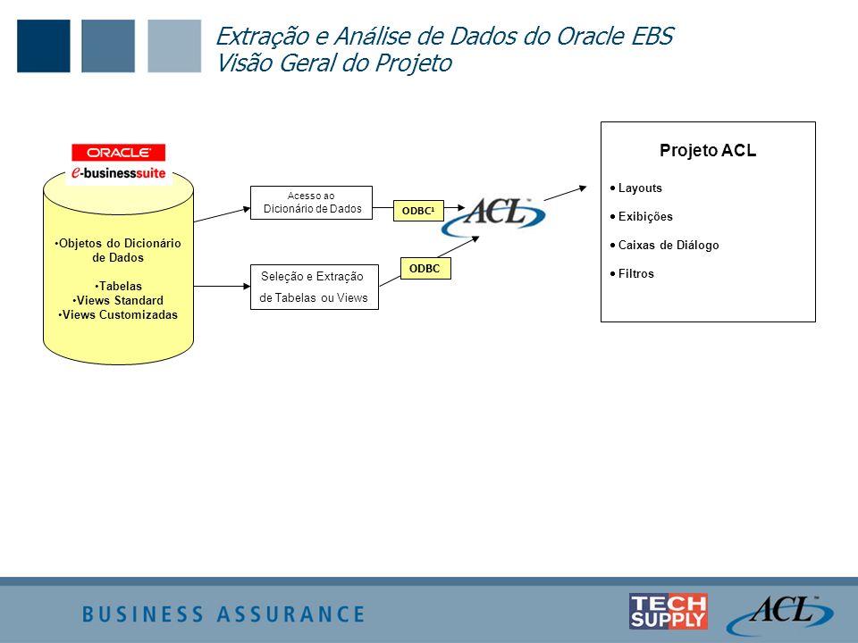 Extração e Análise de Dados do Oracle EBS Visão Geral do Projeto