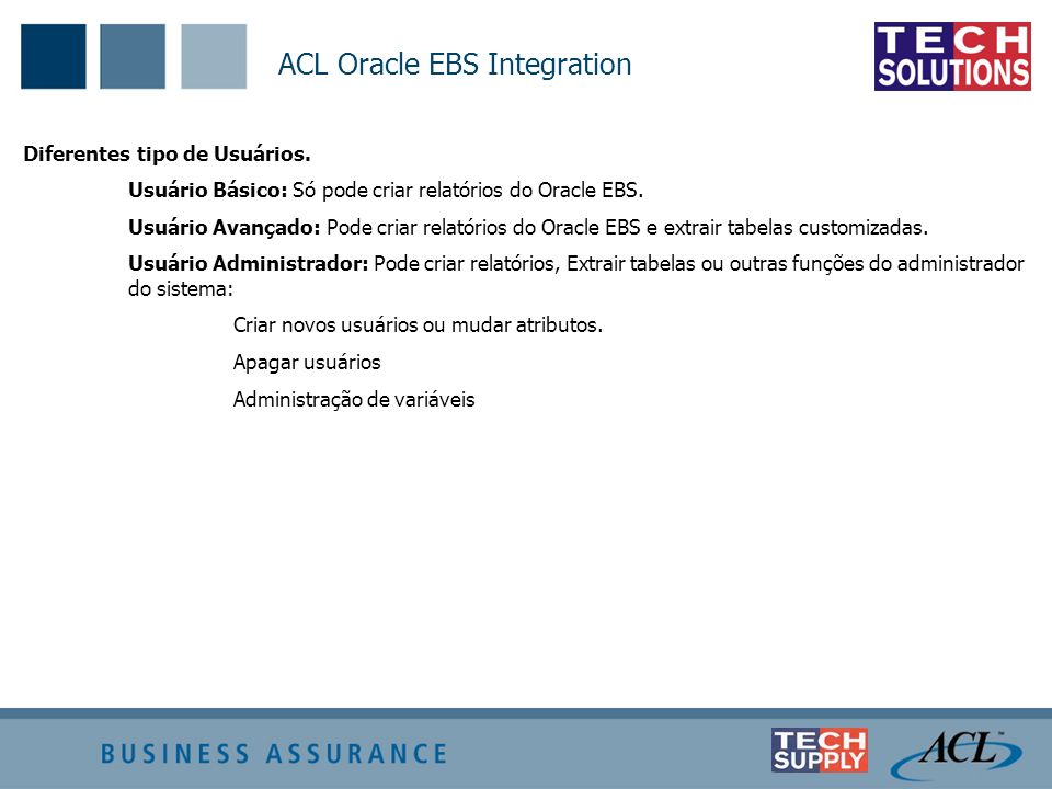 ACL Oracle EBS Integration