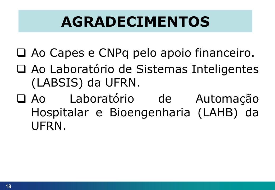 Agradecimentos Ao Capes e CNPq pelo apoio financeiro.