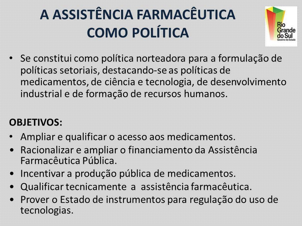 A ASSISTÊNCIA FARMACÊUTICA COMO POLÍTICA