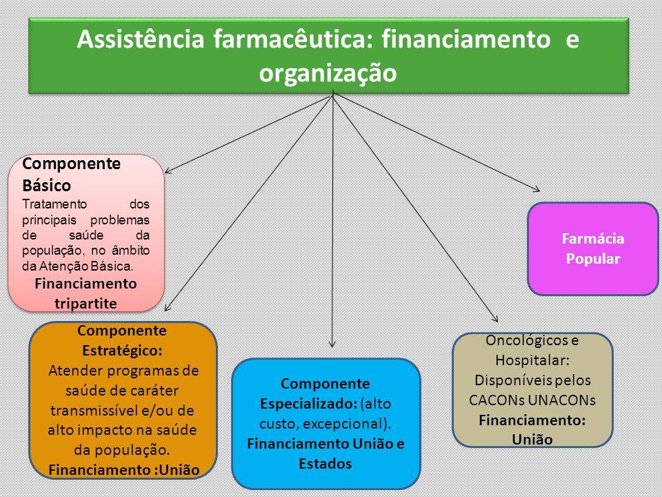 Assistência farmacêutica: financiamento e organização