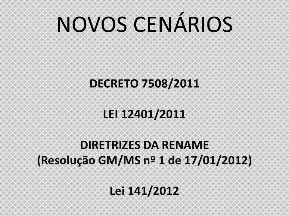 (Resolução GM/MS nº 1 de 17/01/2012)