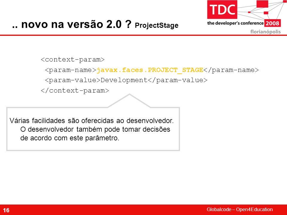 .. novo na versão 2.0 ProjectStage