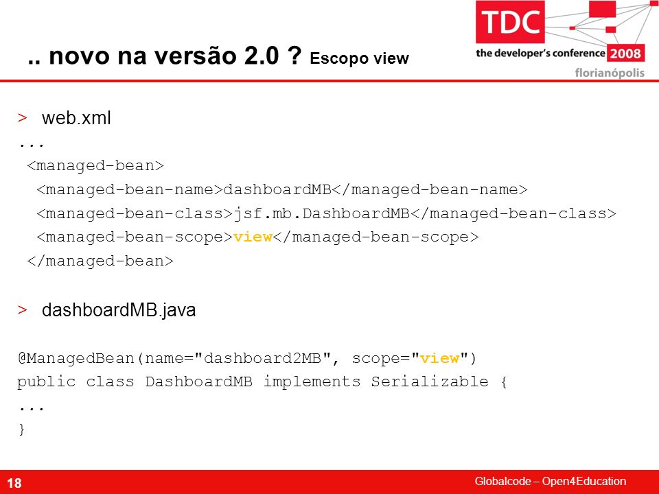 .. novo na versão 2.0 Escopo view