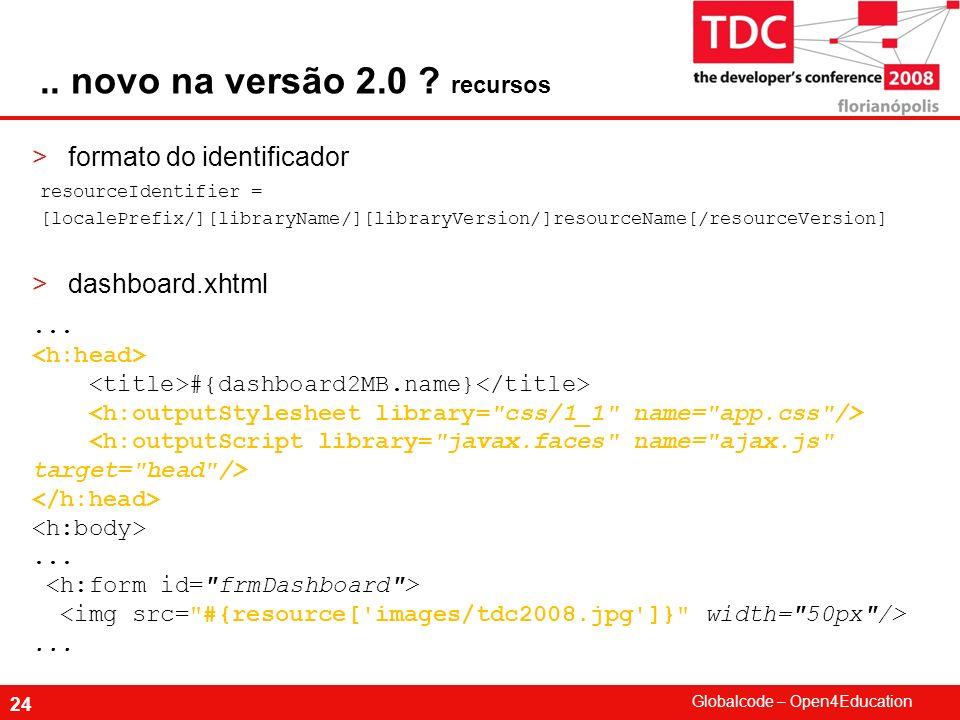 .. novo na versão 2.0 recursos