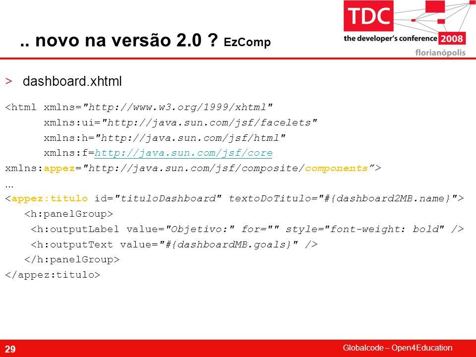 .. novo na versão 2.0 EzComp dashboard.xhtml