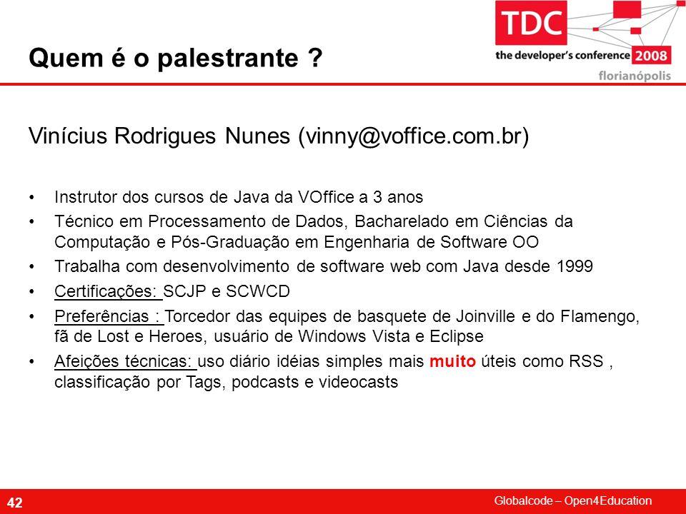 Quem é o palestrante Vinícius Rodrigues Nunes (vinny@voffice.com.br)