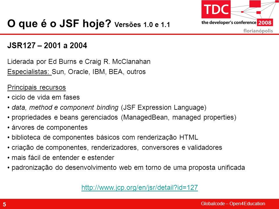 O que é o JSF hoje Versões 1.0 e 1.1