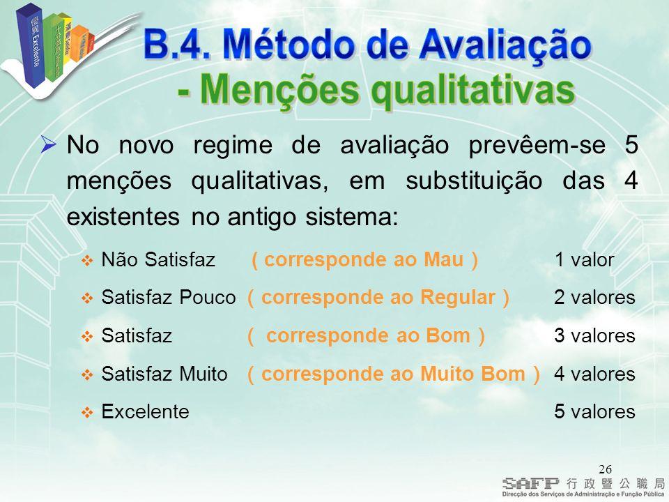- Menções qualitativas