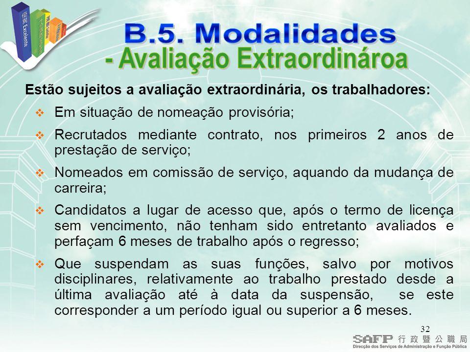 - Avaliação Extraordinároa