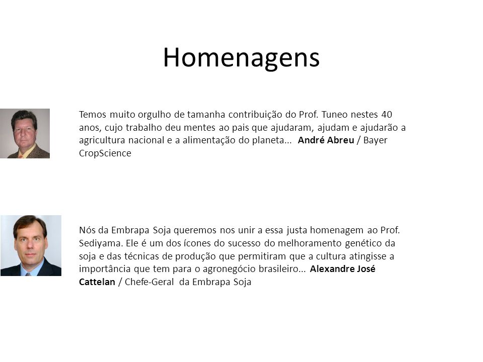Homenagens