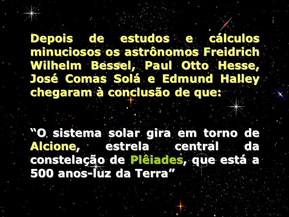 Depois de estudos e cálculos minuciosos os astrônomos Freidrich Wilhelm Bessel, Paul Otto Hesse, José Comas Solá e Edmund Halley chegaram à conclusão de que: