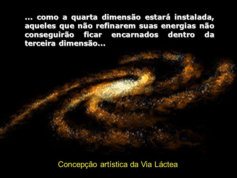 Concepção artística da Via Láctea