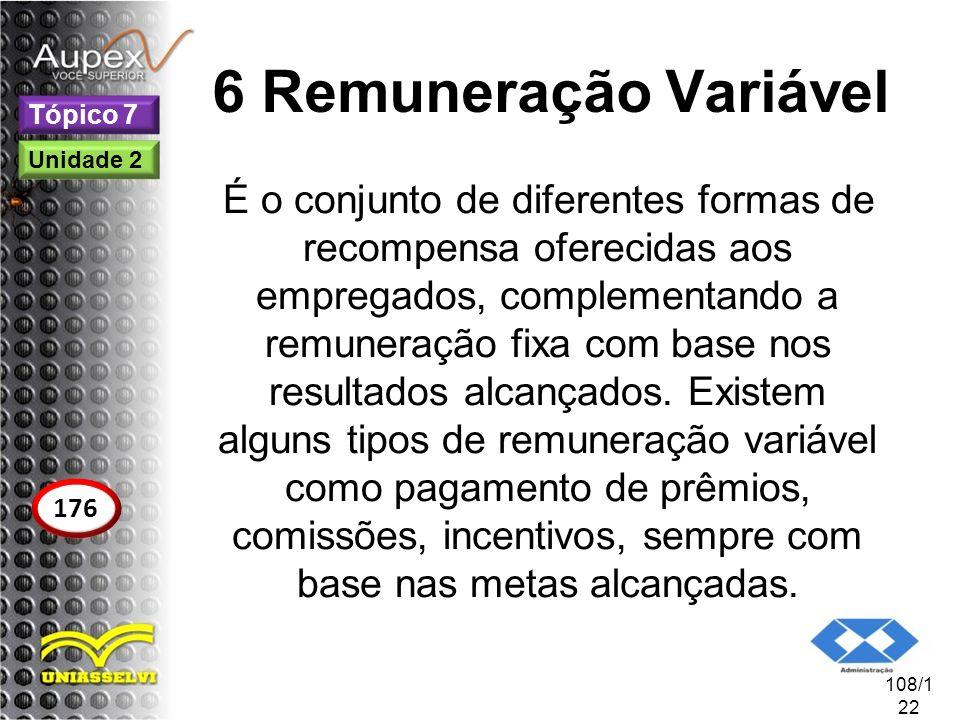 6 Remuneração Variável Tópico 7. Unidade 2.