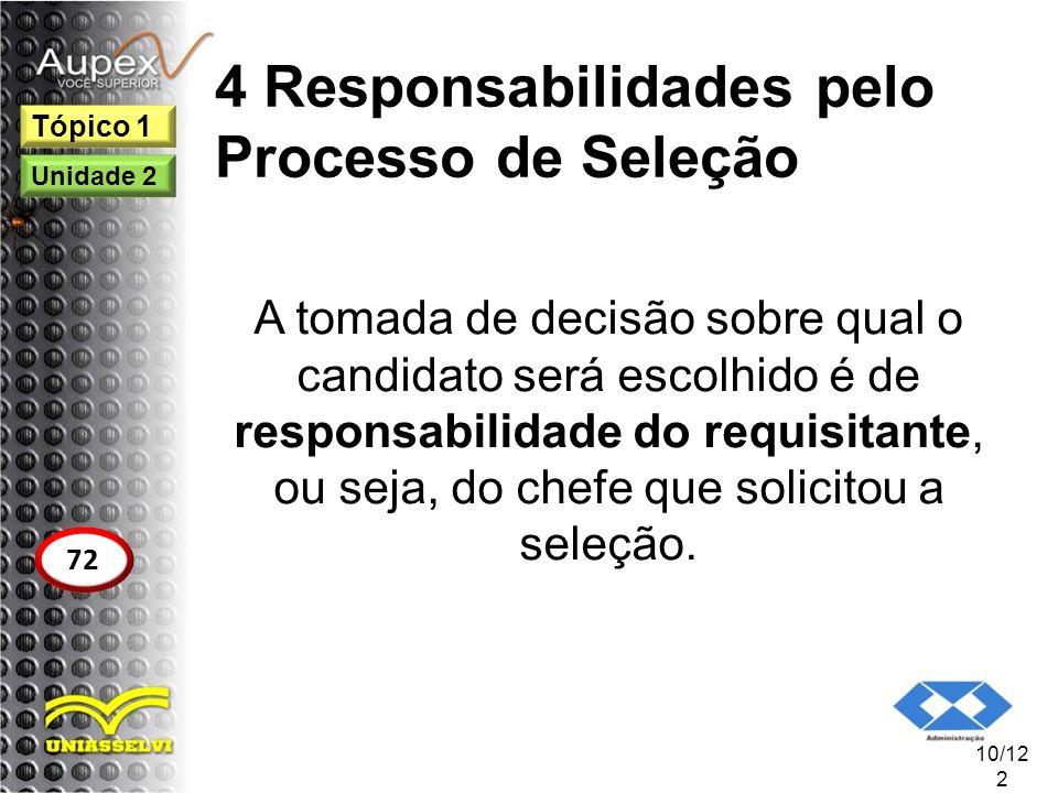4 Responsabilidades pelo Processo de Seleção