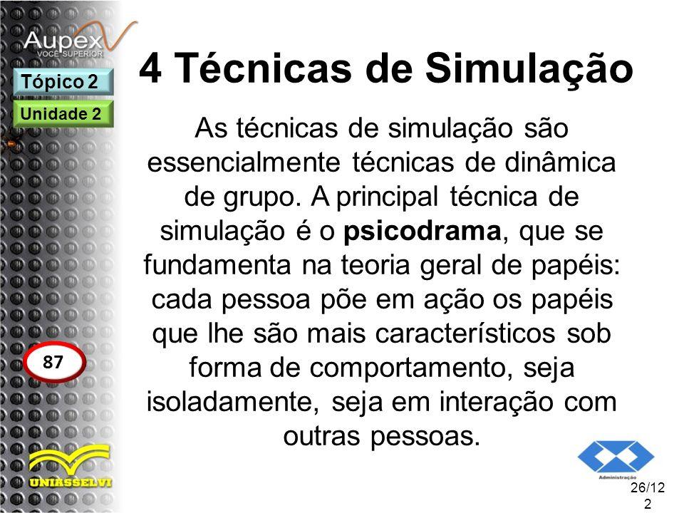 4 Técnicas de Simulação Tópico 2. Unidade 2.