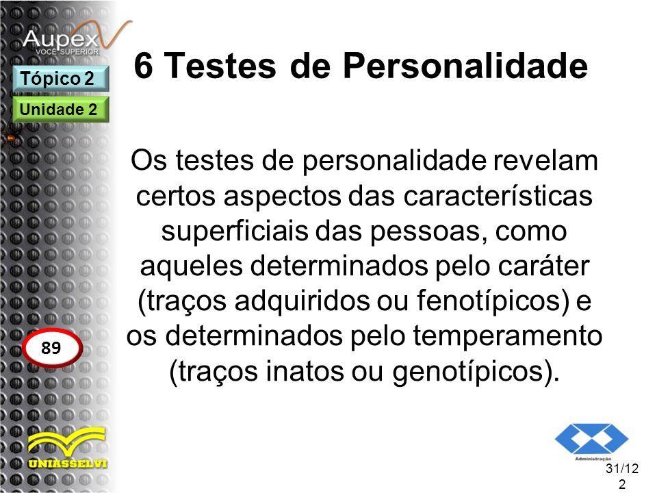 6 Testes de Personalidade