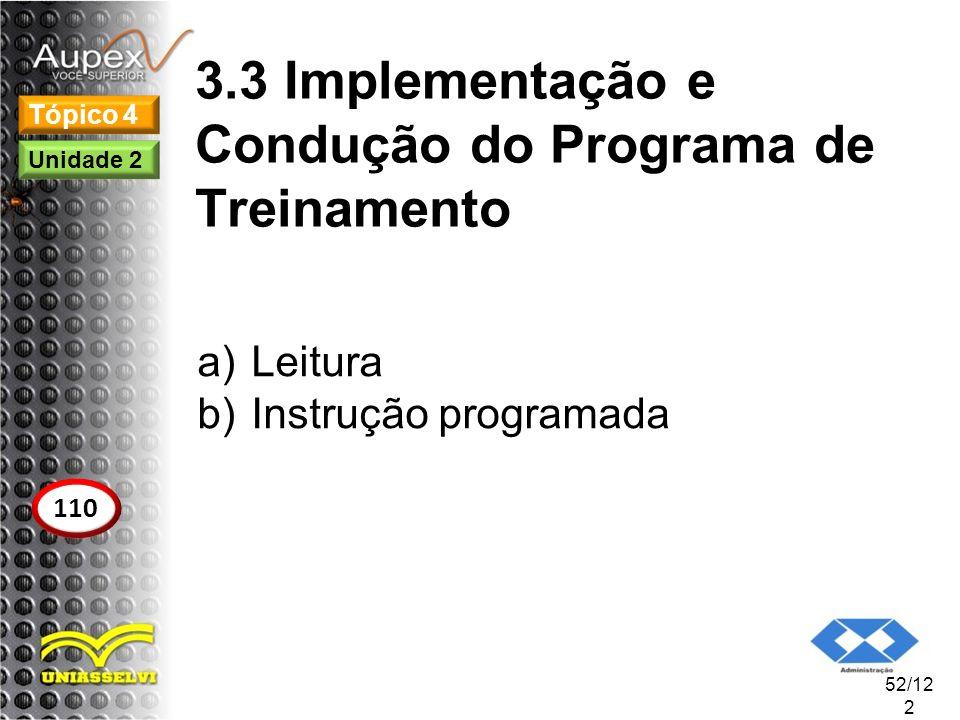3.3 Implementação e Condução do Programa de Treinamento